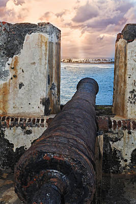 Old Cannon Overlooking San Juan Bay Art Print