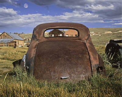 Photograph - Old Car And Moon by Joe  Palermo