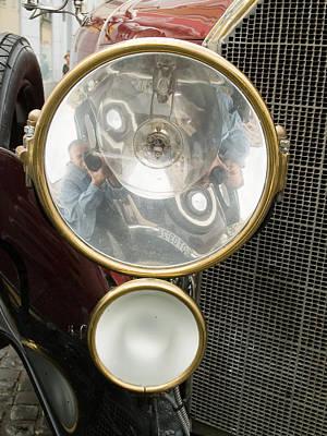 Old Car Lamp Art Print by Odon Czintos