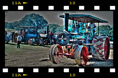 Old Case Tractor Art Print
