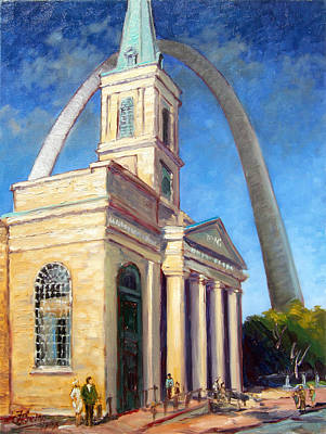Old Cathedral Church In St.louis Art Print