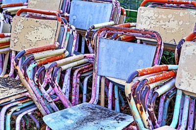 Old Chairs Print by Joana Kruse