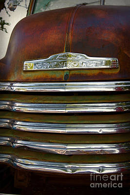 Old Chevrolet Front Grille Art Print by ELITE IMAGE photography By Chad McDermott