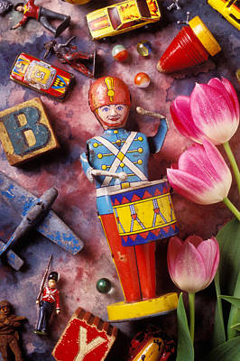 Marble Blocks Photograph - Old Childrens Toys by Garry Gay