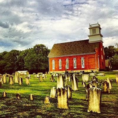 Old Wall Art - Photograph - Old Church Graveyard In Berks County by Luke Kingma