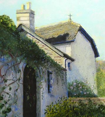Pastel - Old Church New Church by Lorraine McFarland