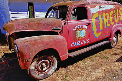 Patina Photograph - Old Circus Truck by Garry Gay