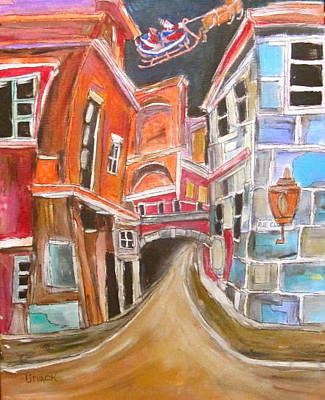Litvack Painting - Old City by Michael Litvack