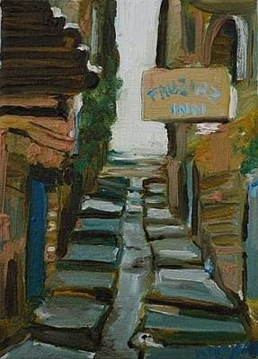 Painting - Old City Nazareth by Marwan  Khayat