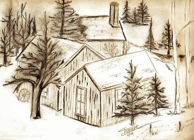 Drawing - Old Colorado by Shannon Harrington