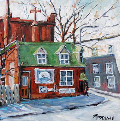 Old Corner Store Montreal By Prankearts Art Print by Richard T Pranke