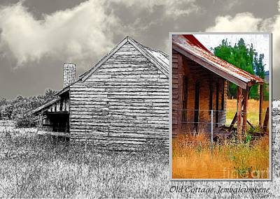 Digital Art - Old Cottage Diptych 2 by Fran Woods