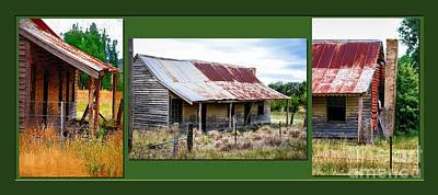 Digital Art - Old Cottage Triptych 1 by Fran Woods