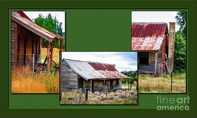 Digital Art - Old Cottage Triptych 2 by Fran Woods