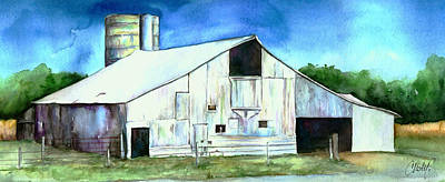 Painting - Old Country Barn by Christy  Freeman