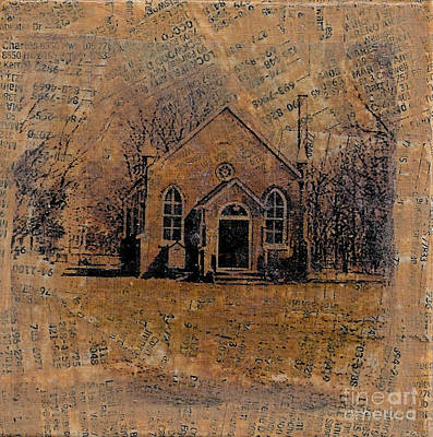 Mixed Media - Old Country Church by Ruby Cross