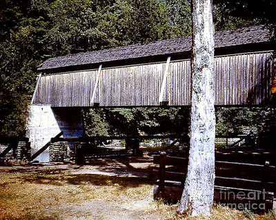 Photograph - Old Covered Bridge Over Schoharie Creek by Merton Allen