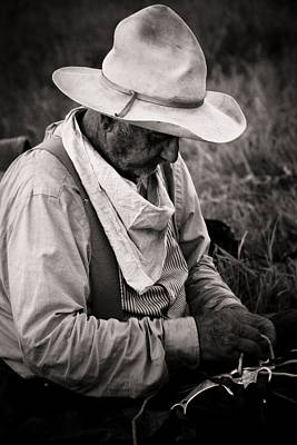 Cattle Drive Photograph - Oklahoma Cowboy by Toni Hopper