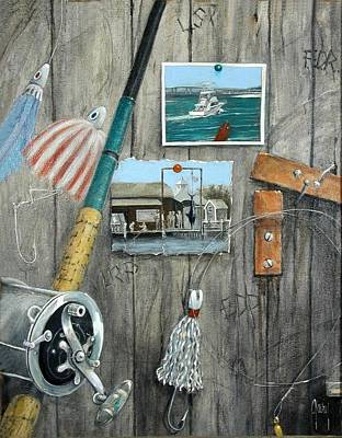 Painting - Old Destin Times by Gary Partin