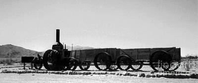 Photograph - Old Dinah Steam Tractor And Ore Wagons by Patricia Januszkiewicz