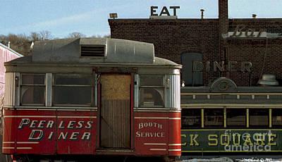 Old Diners Art Print