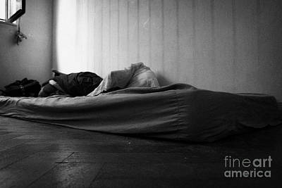 Old Dirty Mattress Lying On The Floor In A Bedroom Art Print