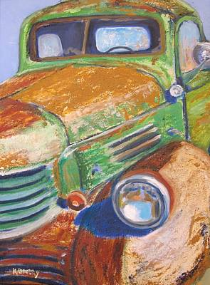 Dodge Truck Painting - Old Dodge Truck by Kathryn Barry