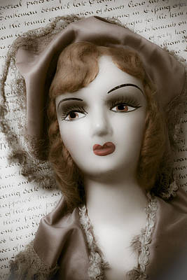Doll Photograph - Old Doll On Old Letter by Garry Gay