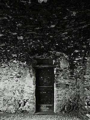 Old Door Under The Porch Print by Ettore Zani