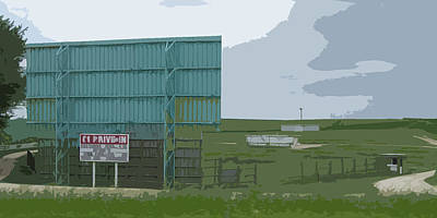 Old Drive In Art Print by Craig Carlson
