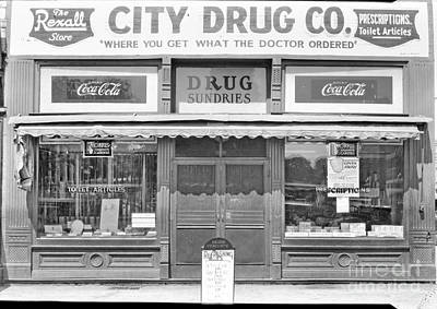 Photograph - Old Drug Store Circa 1930 by Cris Hayes