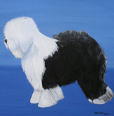 Painting - Old English Sheepdog by Sharon Nummer