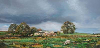 Old Farm - Monyash - Derbyshire Art Print