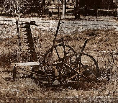 Print featuring the photograph Old Farm Equipment by Blair Stuart