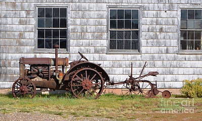 Photograph - Old Farm Equipment by Donna Greene