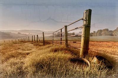 Old Farm Gate  Art Print by Debra and Dave Vanderlaan