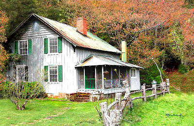 Photograph - Old Farm House Filtered by Duane McCullough