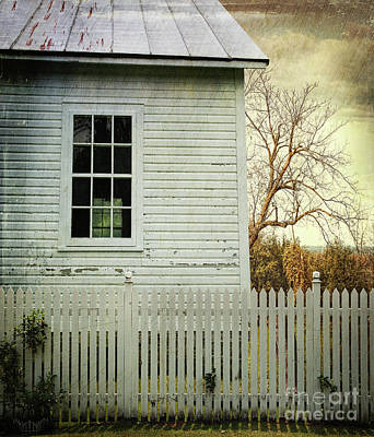 Country Cottage Photograph - Old Farm  House Window  by Sandra Cunningham