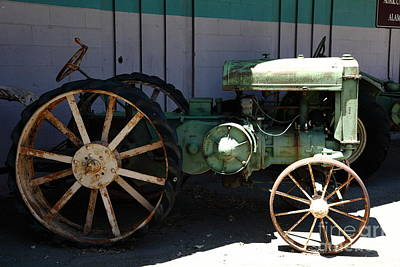 Old Farm Tractor . 5d16619 Art Print by Wingsdomain Art and Photography