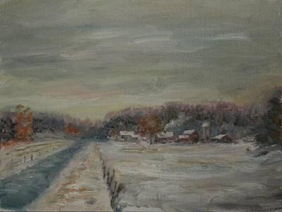 Old Farms Winter Avon Art Print