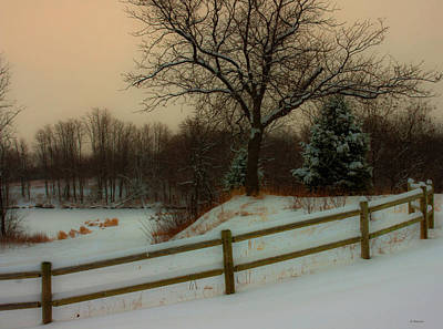 Photograph - Old Fashiion Winter by Edward Peterson