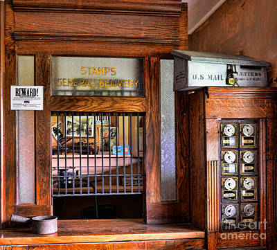Mail Box Photograph - Old Fashion Post Office by Paul Ward