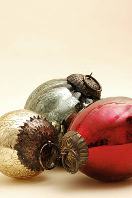Photograph - Old Fashioned Glass Ornaments by Carol Vanselow
