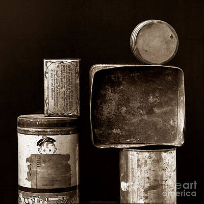 Old Objects Photograph - Old Fashioned Iron Boxes. by Bernard Jaubert