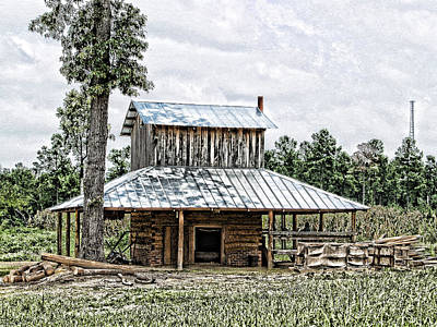 Old Fashioned Tobacco Barn Art Print by Dwayne  Graham