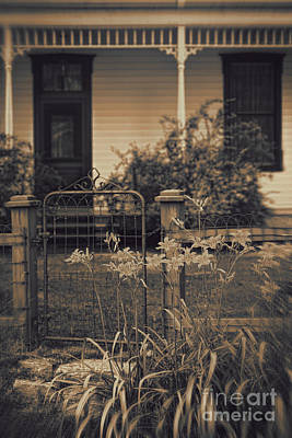 Photograph - Old Fence In Front Of Country House by Sandra Cunningham