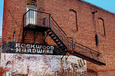 Photograph - Old Fire Escape by Paul Mashburn