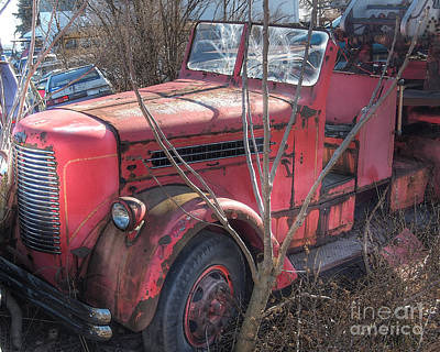 Photograph - Old Firetruck by Craig Leaper