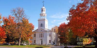 Truck Art - Old First Church in Bennington Vermont by Jack Schultz
