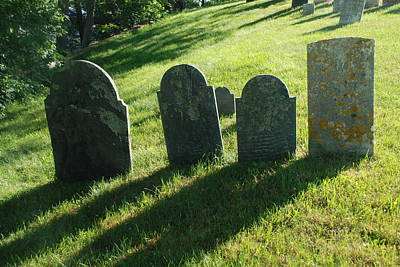 Photograph - Old First Parish Burial Ground by Richard Bryce and Family